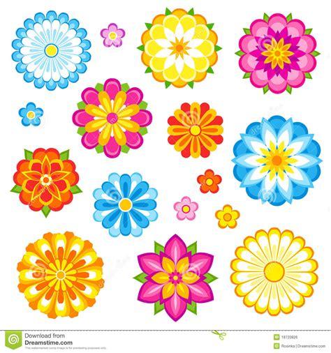 imagenes vectores de flores flores del vector fijadas imagen de archivo libre de