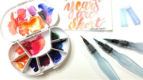 water color pen how to use the pentel aquash water brush pen for