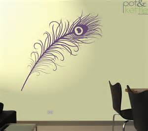 Peacock Feather Wall Sticker Peacock Feather Vinyl Wall Decal Sticker Large