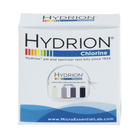 chlorine color chlorine test strips with dispenser and color chart