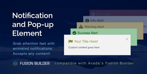 avada theme update change log notification pop up element for avada v5 fusion builder