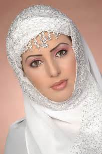 Beautiful Light Bridal Hijab And Makeup Mona White Hearted Flickr