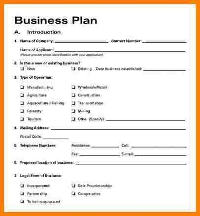 simple business plan template word business template
