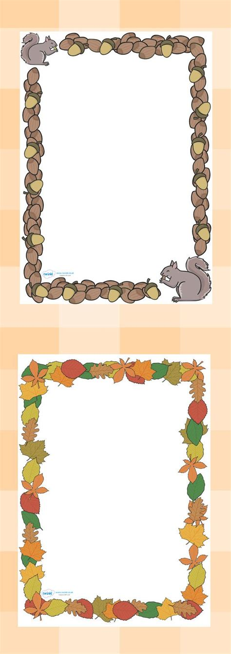 printable leaves twinkl twinkl resources gt gt fall page borders gt gt classroom