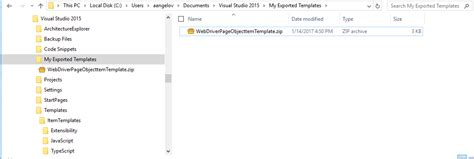visual studio templates standardize page objects with visual studio item templates