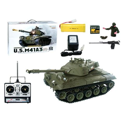 boat battery smoking 1 16 u s m41a3 rc tank with smoking lighting and sound
