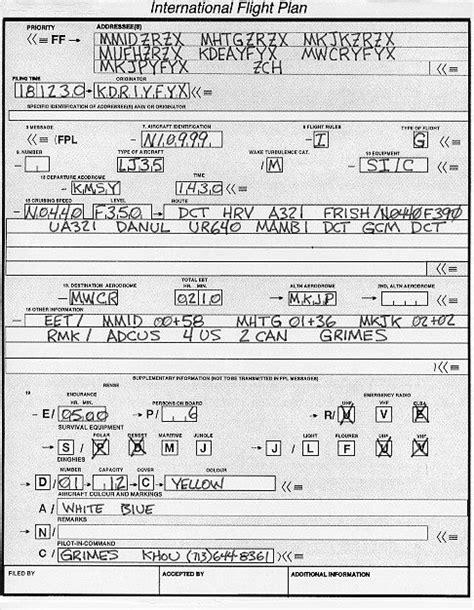 is a flight plan stick map a flight plan vector map