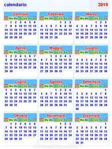 Calendario 2018 E 2019 Calendario 2019 Orizzontale E Verticale