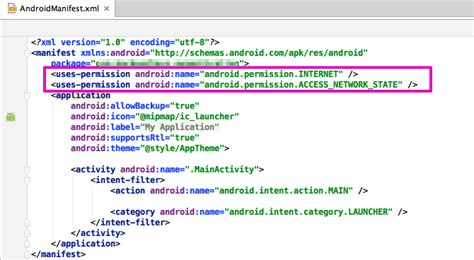 Android Manifest by Start Guide For Android Backend As A Service Platform