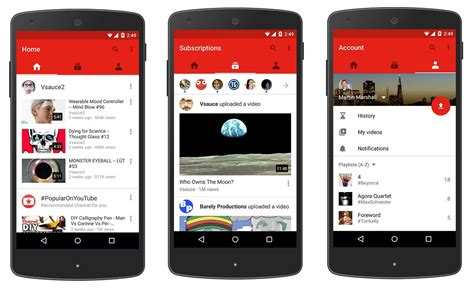 application design youtube youtube unveils new mobile app design with emphasis on