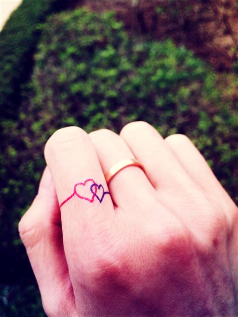 wedding finger tattoos designs get the permanent expression of with a wedding ring