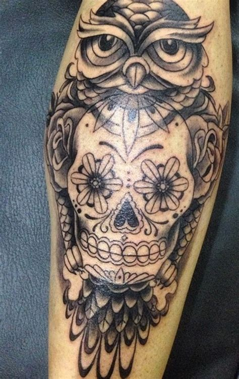 tattoo owl with skull meaning owl and skull tattoo meaning