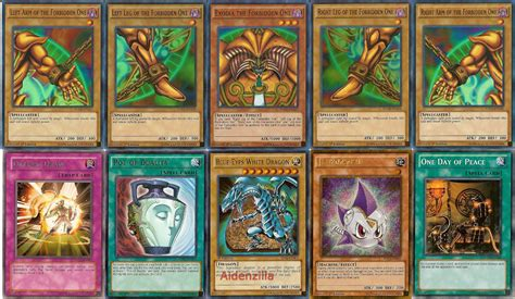banned yugioh decks yugioh deck collection lot exodia set 1000 cards