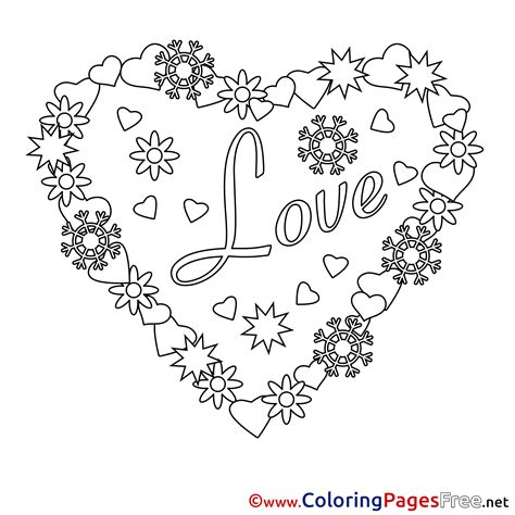 wreath heart printable valentine s day coloring sheets