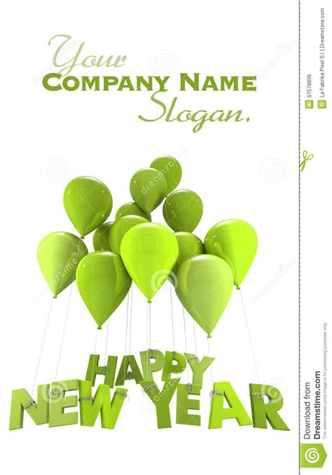 new year congratulation word happy new year in green stock illustration image 51578896