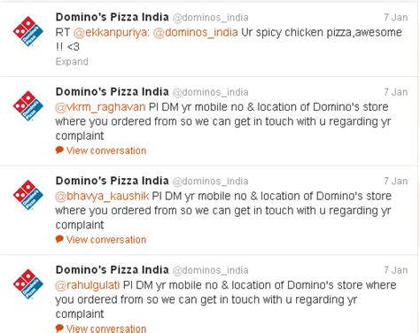 domino pizza twitter social media strategy review pizza hut