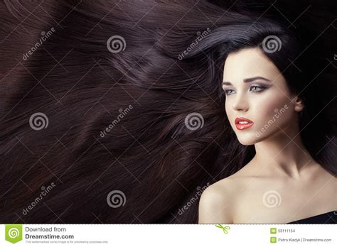a lot of hair on woman lot of hair in women stock photo image 53111154