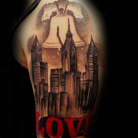 philadelphia skyline tattoo 40 liberty bell designs for patriotic ink ideas