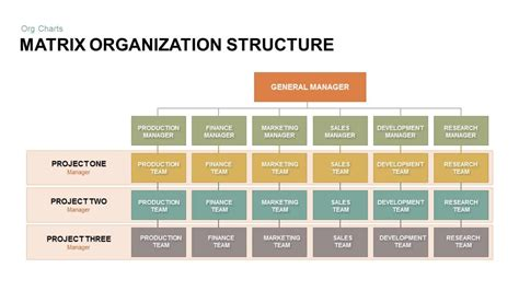 matrix org chart template matrix organization structure powerpoint and keynote