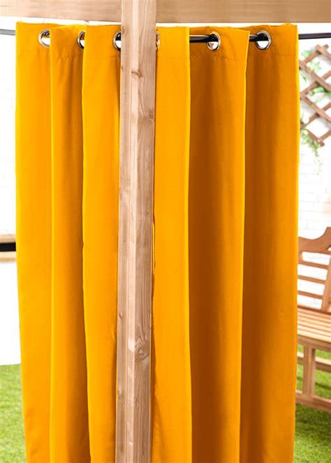 Vorhang Gelb by Waterproof Outdoor Curtain Eyelet Panel 55 Quot Garden D 233 Cor