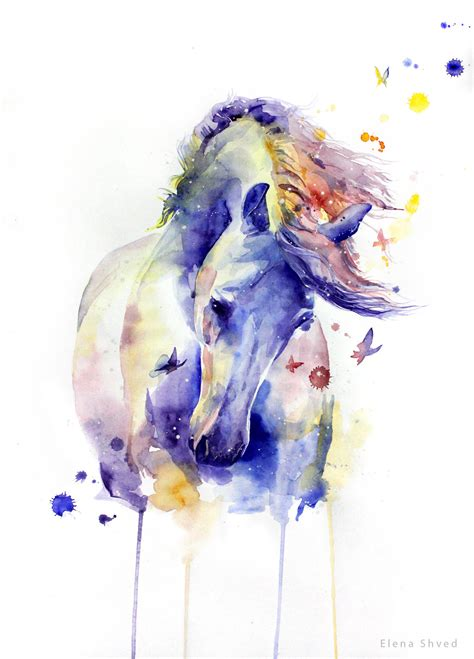 watercolor tattoo unicorn 19 by elenashved on deviantart