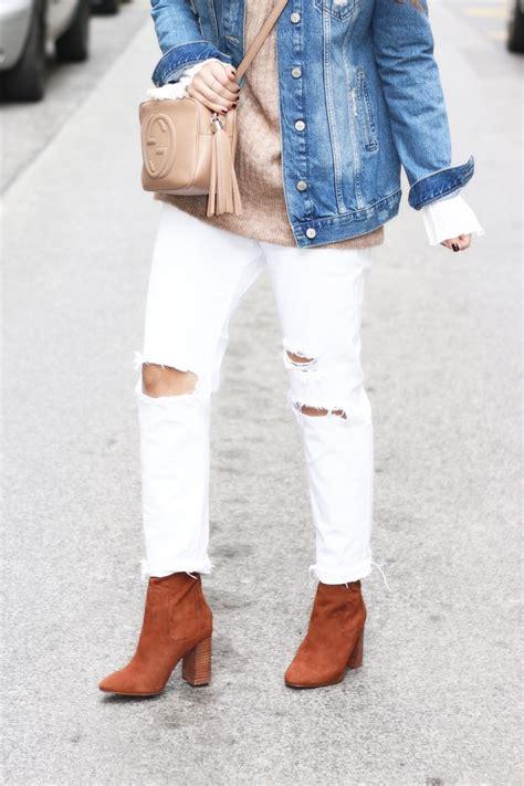 Sweater Steigen White white ripped boyfriend camel sweater fendi iridia