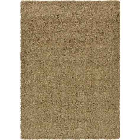 solid brown area rug unique loom solid shag brown 7 ft x 10 ft area rug 3126245 the home depot
