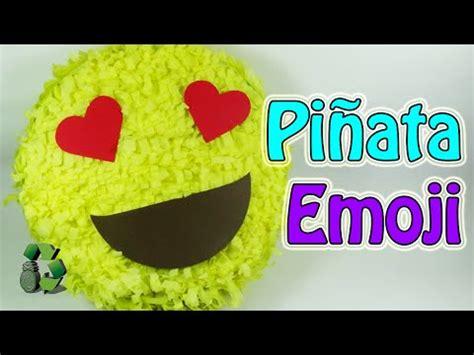 como hacer un fondo con emojis youtube como hacer una pi 241 ata emojis o emoticonos reciclaje