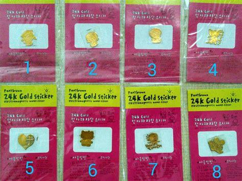 Stiker Logam Anti Radiasi Elektromagnetik Diskon jual stiker logam anti radiasi 24k gold sticker emas oti swalayan