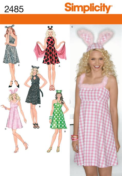 pattern sewing online simplicity 2485 misses costumes
