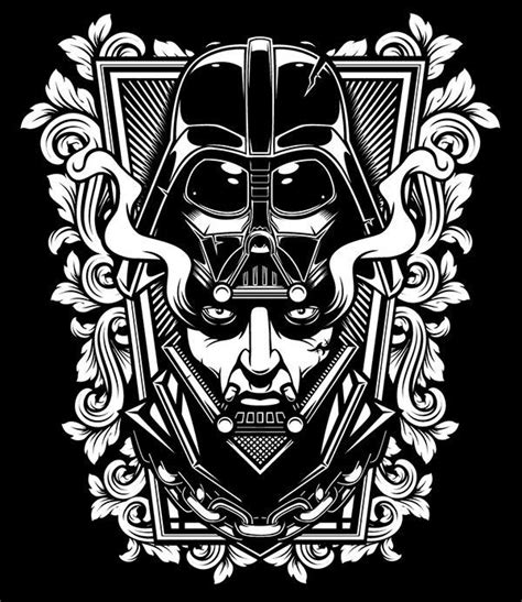 Piero Darth Vader Blackwhite Darth Vader Black And White Darth Vader