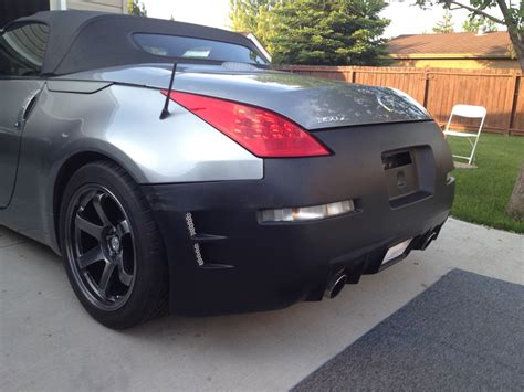 nissan 350z chargespeed rear bumper 2006 front and chargespeed replica rear on 2004 my350z