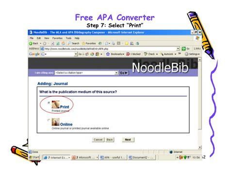 apa format converter apa style 2007