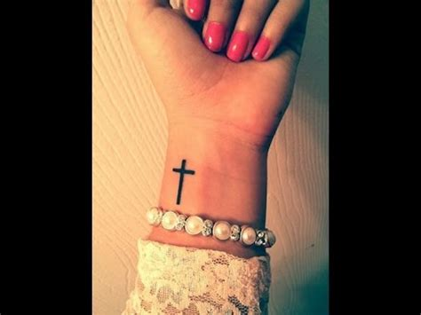 tattoo on wrist youtube small cross tattoo on wrist youtube