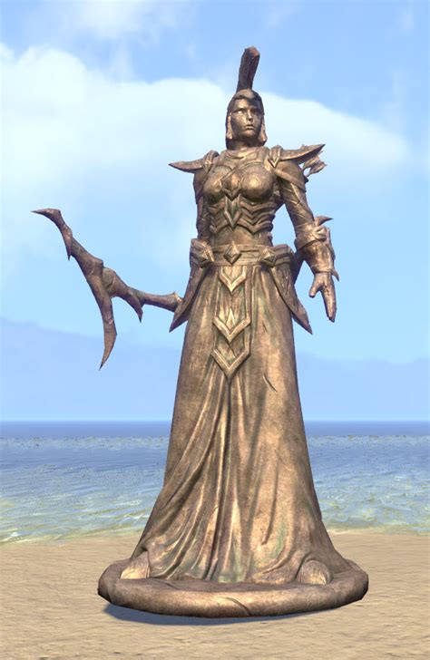 eso fashion dark elf statue ordinator elder scrolls