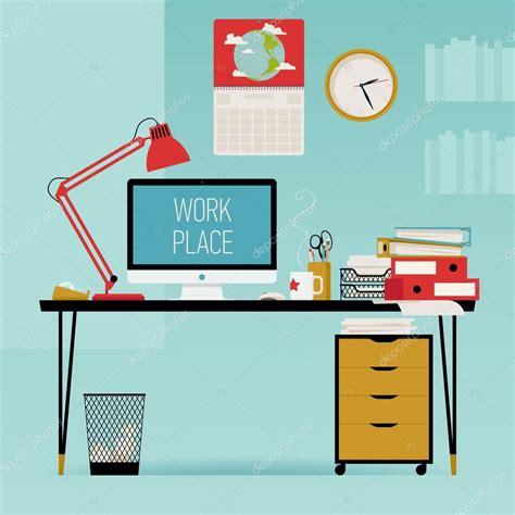 Creative office work desk ? Stock Vector © masha tace