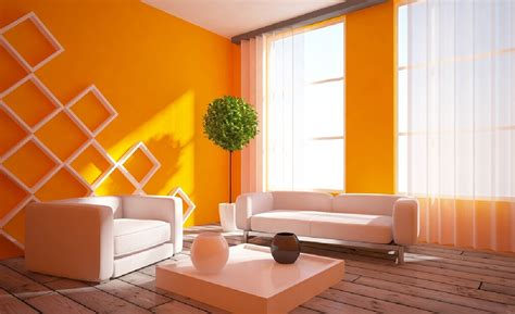 wooden floor house interior 3d interior rustic wood floors and orange walls download 3d house