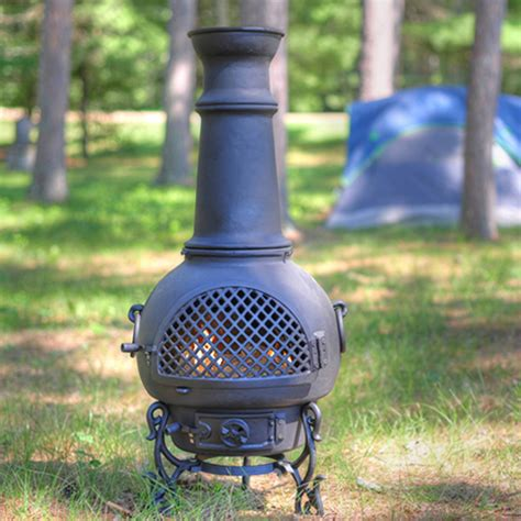 Aluminum Chiminea Fireplaces Chiminea Gatsby Style Cast Aluminum Outdoor Fireplace