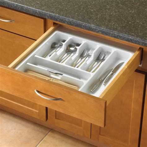 Kitchen Drawer Insert by Knape Vogt Single Tiered Kitchen Cutlery Drawer Insert