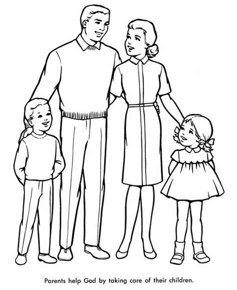 perfect family coloring page coloring sky