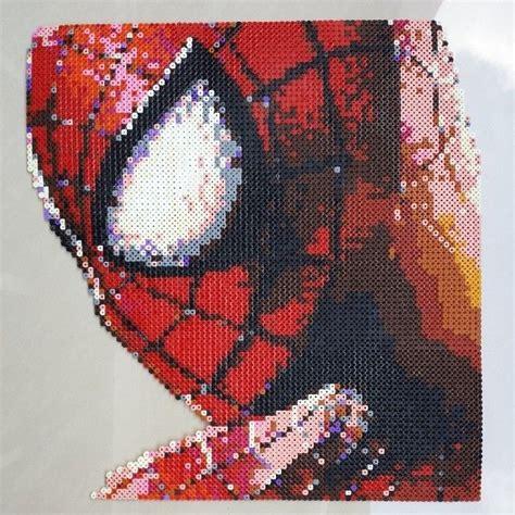 spiderman perler pattern spiderman perler pixel art by ddralson pixel art