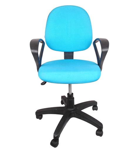 e pro iii low back office chair in blue color by