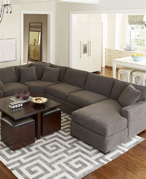 macys living room furniture radley fabric sectional living room furniture sets
