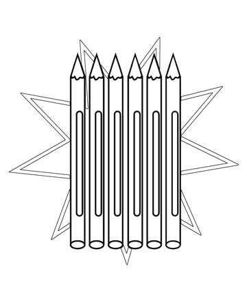 color pencil for coloring book free pencils coloring pages to print