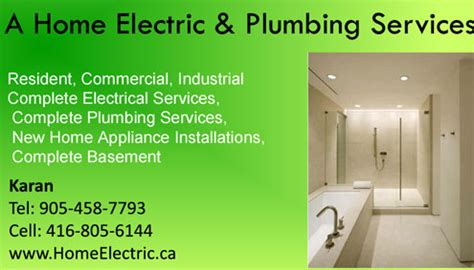 Plumbing Electrical Services by A Home Electric Plumbing Services Is The Professional