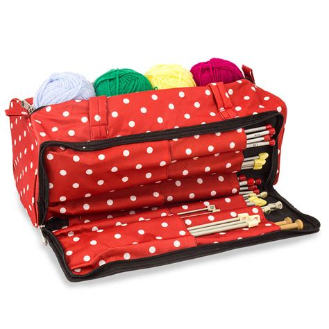 knitting bags knitting and sewing storage bag polka dot knitting