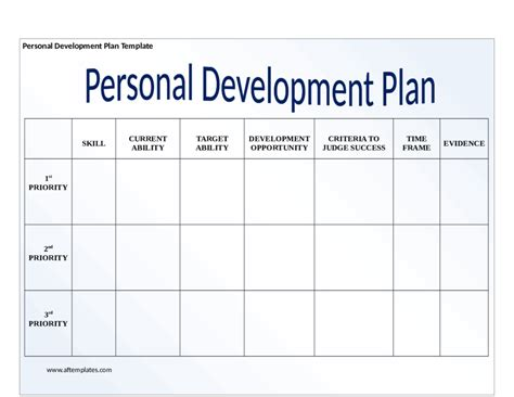 template for personal business plan personal development plan okl mindsprout co