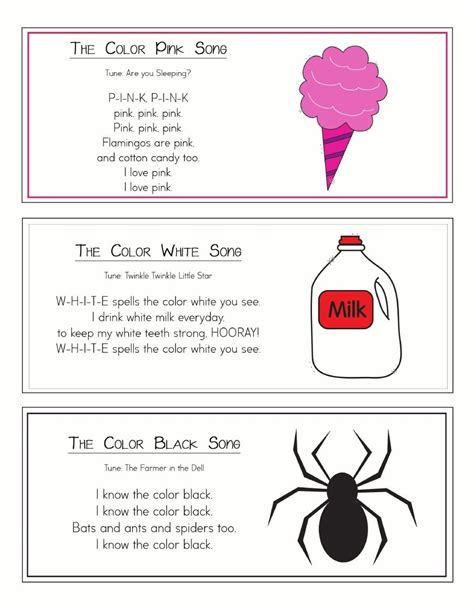 songs about colors color songs ring classroom ideas color songs