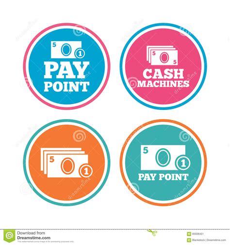 ritiro contanti in banca icone della moneta e dei contanti macchine o bancomat dei
