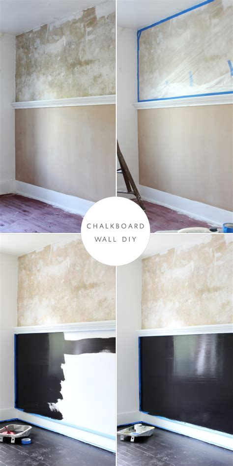 chalkboard paint on drywall diy preserving plaster and a chalkboard wall coco